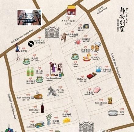 上海美食地图手绘