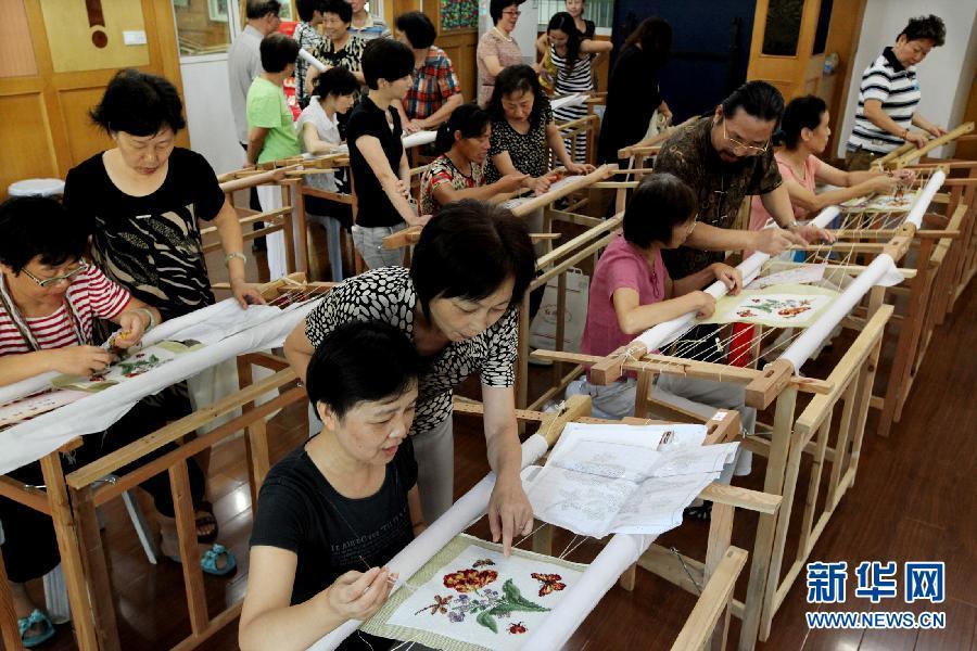 上海绒绣高桥传习所首批学员结业