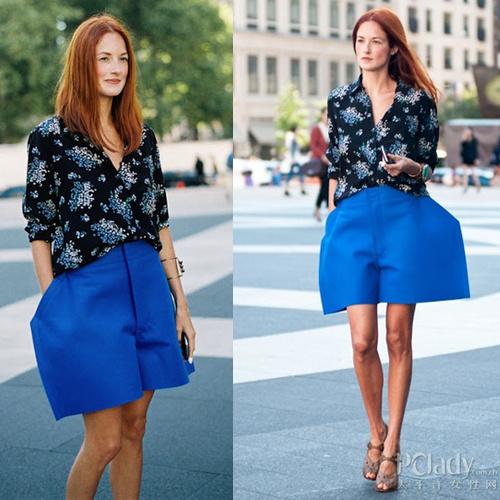 裤子极具设计感的折纸造型十分出挑抢眼,因此在配搭上需遵从轻装简从