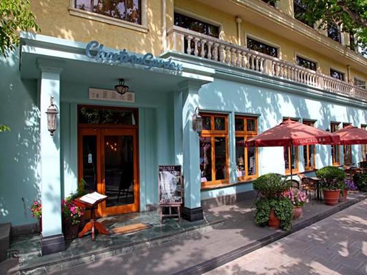 欧式复古咖啡店门面图片
