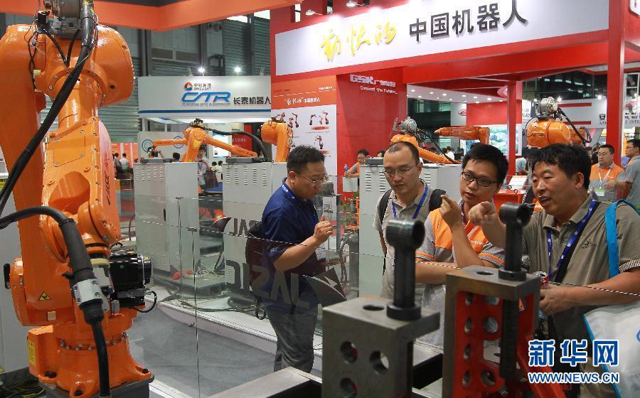 2014中国国际机器人展览会在沪举行 图片