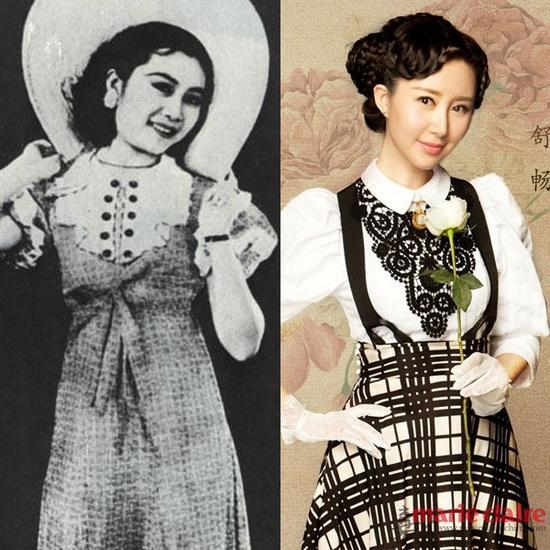 袄裙打造清新明目STYLE   民国初期女子流行穿着上衣下裙,上衣有衫、袄、背心;款式有对襟、琵琶襟、一字襟、大襟、直襟、斜襟等;领、袖、襟、摆等处多镶滚花边,或加刺绣纹饰;衣摆有方有圆,宽瘦长短的变化也较多。上衣下裙的女装后来一直流行,但裙式不断简化。而民国时期的学生服饰带有鲜明的记忆点,虽然融入了大量的西方元素,但却又非常中国特色。同样在各种大剧中,学生服饰也给大家留下了深刻的印象。是那时的女生校服,浅蓝上衣、玄色裙子、白色纱袜、圆口布鞋,都带着那个时代特有的印记。    民国时期连衣裙   连衣