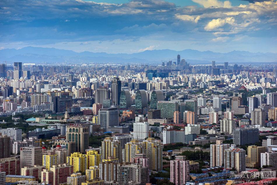 北京蓝天白云现绝美风光