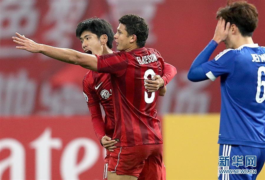 亚冠联赛:上海上港胜水原三星蓝翼