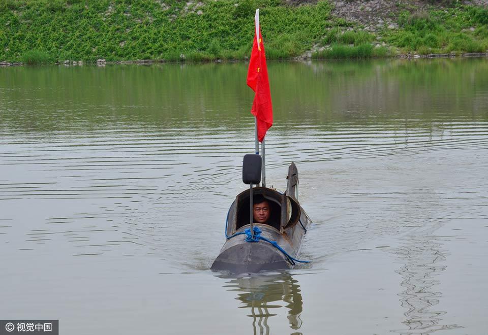高手在民间 农民造新型潜水艇获国家专利