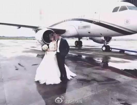 """杭州现""""土豪""""婚礼 新娘乘专机嫁到萧山"""