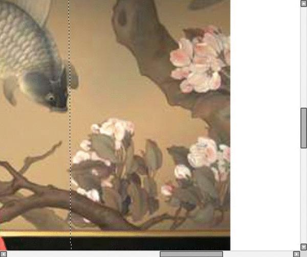 原画藏于故宫博物院的宋画《海棠蛱蝶图》与《大鱼海棠》屏风前的椿