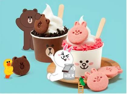 更能尝到造型可爱的line friends冰淇淋(仅在本次展览中销售)      3