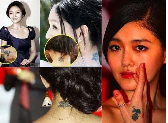 > 正文       大s也对纹身情有独钟,据小编了解,目前她的颈后,耳朵