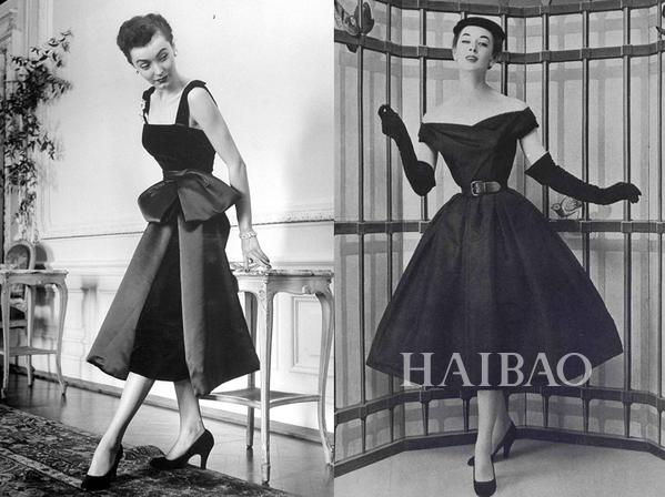 1940年设计师克里斯汀·迪奥 (christian dior) 小黑裙