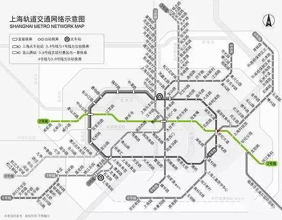 上海地铁二号线线路图图片
