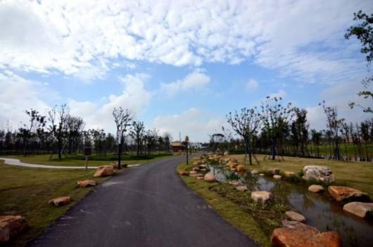 南侧,西侧是长兴岛的两条重要道路——潘园公路和凤凰公路,北侧是上海