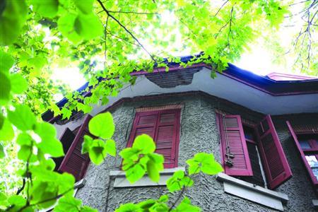 老字号万寿斋的门前依然排着长队,有老人搬着凳子坐在路边的树下喝茶