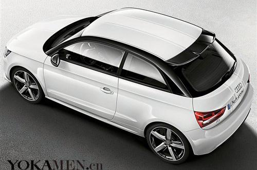 红色是基于a1升级款式,黑色车顶和反光镜与其车身色搭配增添了其自身