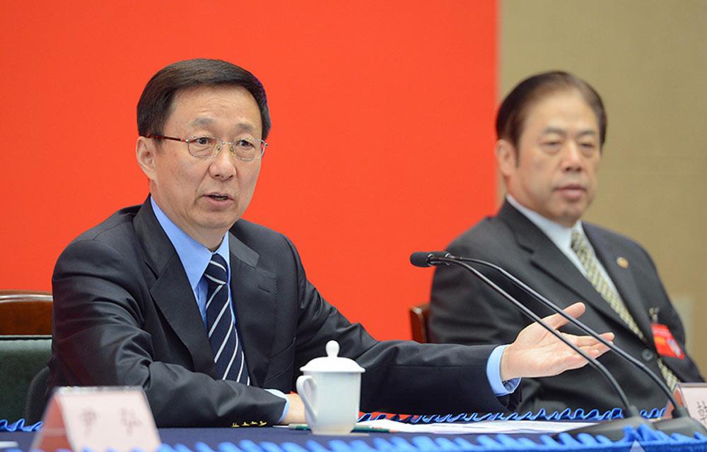 韓正參加政協上海市十二屆五次會議專題會議