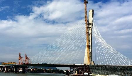世界最宽单塔斜拉桥14日合龙