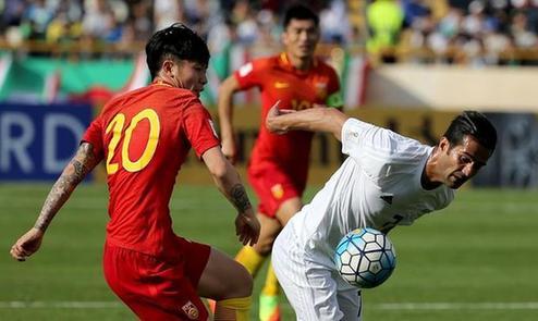 世預賽:中國客場0-1伊朗