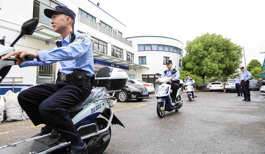 上海長寧公安分局強化裝備保障 助力社區警務工作